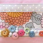 SALE SALE SALE Vintage Button Pink Make-up Purse